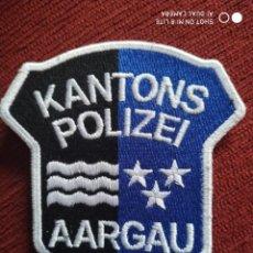 Militaria: PARCHE POLICIA AARGAU, SUIZA, LOCAL MUNICIPAL. EMBLEMA, ESCUDO POLICIAL. Lote 218074628