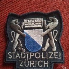 Militaria: PARCHE POLICIA SUIZA LOCAL MUNICIPAL DE ZURICH EMBLEMA, ESCUDO POLICIAL. Lote 218075608