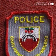 Militaria: PARCHE POLICIA CHAVANNES-PRES-RENENS. LOCAL MUNICIPAL SUIZA. EMBLEMA, ESCUDO POLICIAL. Lote 218087876