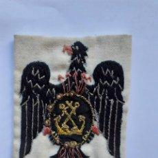 Militaria: FALANGE DE MAR, PARCHE FLECHAS NAVALES. 10 X 8 CMTS. Lote 218659497