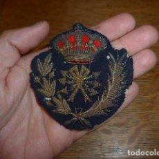 Militaria: ANTIGUO Y RARO PARCHE BORDADO DE TRANSMISIONES DE ALFONSO XIII, ORIGINAL.. Lote 219893338