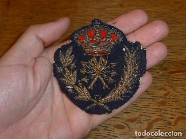 Militaria: Antiguo y raro parche bordado de transmisiones de Alfonso XIII, original. - Foto 2 - 219893338