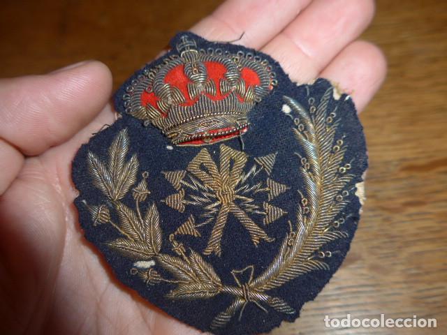 Militaria: Antiguo y raro parche bordado de transmisiones de Alfonso XIII, original. - Foto 3 - 219893338