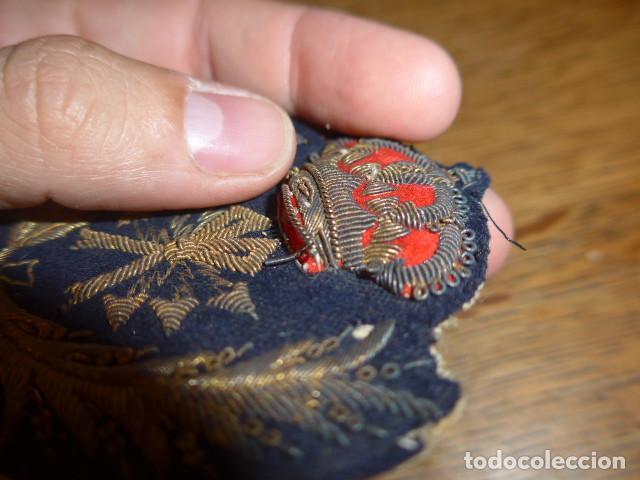 Militaria: Antiguo y raro parche bordado de transmisiones de Alfonso XIII, original. - Foto 4 - 219893338