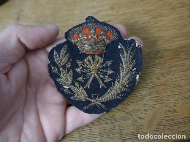 Militaria: Antiguo y raro parche bordado de transmisiones de Alfonso XIII, original. - Foto 6 - 219893338