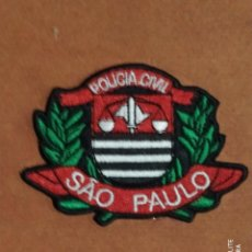 Militaria: PARCHE DISTINTIVO POLICIAL DE SAO PAULO BRASIL EMBLEMA, INSIGNIA POLICIA CIVIL LOCAL MUNICIPAL. Lote 220633958