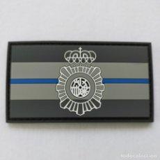 Militaria: PARCHE POLICÍA NACIONAL, BANDERA BLUE LINE 9X 5 CMS. PVC 2D CON VELCRO. Lote 232197365