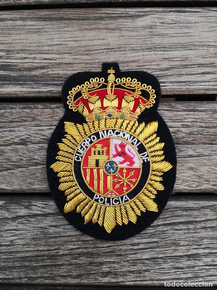 EMBLEMA DEL CUERPO NACIONAL DE POLICIA BORDADO EN HILO METÁLICO (Militar - Parches de tela )