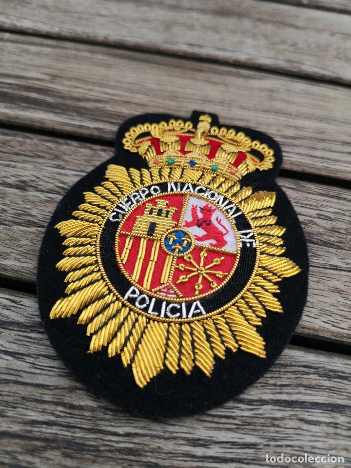 Militaria: Emblema del CUERPO NACIONAL DE POLICIA bordado en hilo metálico - Foto 2 - 221412067