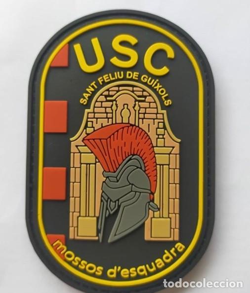 PARCHE POLICÍA MOSSOS D'ESQUADRA (USC SANT FELIU DE GUÍXOLS) (PVC 2D VELCRO) (Militar - Parches de tela )