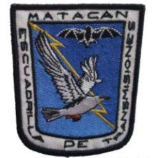 Militaria: PARCHE DEL EJÉRCITO DEL AIRE DE LA ESCUADRILLA DE TRANSMISIONES DE LA BASE AÉREA DE MATACÁN.. Lote 221632328