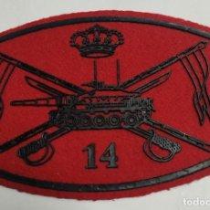 Militaria: PARCHE EMBLEMA PECHO PAÑO ROJO VILLAVICIOSA 14 M-60. Lote 269208493