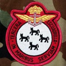 Militaria: PARTE DE TELA 3ª ESCUADRILLA HELICOPTEROS ARMADA ESPAÑOLA. Lote 222288981