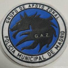 Militaria: PARCHE EMBLEMA DE BRAZO CON VELCRO A COLOR DE LA POLICÍA MUNICIPAL DE MADRID GRUPO DE APOYO ZONAL. Lote 222656516