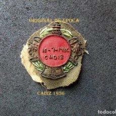 Militaria: (JX-201097)MÉRITO MILITAR COLECTIVO BORDADO,AL MERITO EN CAMPAÑA,CADIZ 18-7-1936,GUERRA CIVIL.. Lote 222687845