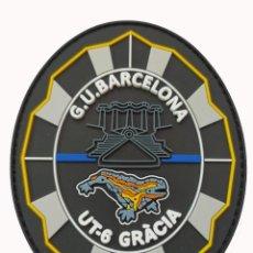 Militaria: PARCHE POLICÍA , GUARDIA URBANA BARCELONA UT-6 GRÀCIA (PVC 2D CON VELCRO). Lote 296728453