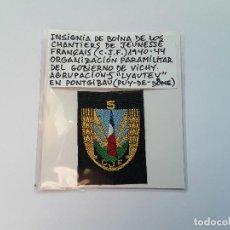 Militaria: FRANCIA: PARCHE DE BOINA DE CHANTIERS DE JEUNESSE FRANÇAIS (CJF) ORGANIZACIÓN DEL GOBIERNO DE VICHY.. Lote 225597595