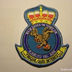 Militaria: PARCHE BORDADO DE AVIACIÓN ESPAÑOLA, BASE AEREA DE TORREJÓN.. Lote 226214767