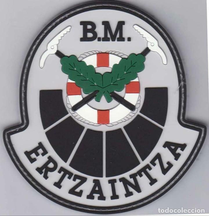 PARCHE POLICÍA ERTZAINTZA BRIGADA MOVIL (PVC 2D Y VELCRO) (Militar - Parches de tela )