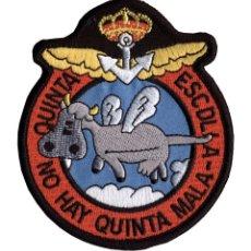 Militaria: PARCHE ARMADA ESPAÑOLA QUINTA ESCUADRILLA. Lote 235071410