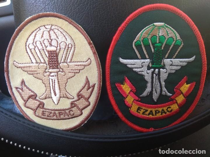 LOTE DE 2 PARCHES ACTUALES DEL EZAPAC ESCUADRÓN PARACAIDISTA DEL EJERCITO DEL AIRE (Militar - Parches de tela )