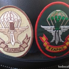 Militaria: LOTE DE 2 PARCHES ACTUALES DEL EZAPAC ESCUADRÓN PARACAIDISTA DEL EJERCITO DEL AIRE. Lote 237850625
