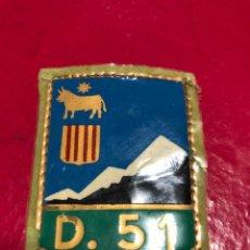 Militaria: ESCUDO DE BRAZO CUERPO DE EJERCITO DE ARAGON DIVISION 51 , TERUEL. Lote 240887860