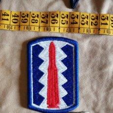 Militaria: USA PARCHE 197 BRIGADA DE INFANTERÍA PARCHE NUEVO Y ACTUAL. Lote 243499630