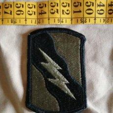 Militaria: USA - PARCHE VERDE 155 BRIGADA ACORAZADA DE COMBATE NUEVO Y ACTUAL. Lote 243499905