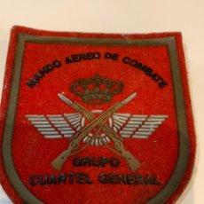 Militaria: PARCHE MANDO AÉREO DE COMBATE - GRUPO CUARTEL GENERAL DEL EJÉRCITO DEL AIRE. Lote 243786810