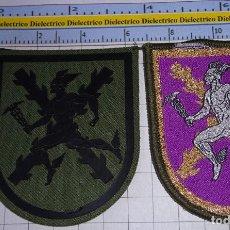 Militaria: 2 PARCHES MILITARES. MANDO DE TRANSMISIONES DEL EJÉRCITO ESPAÑOL. Lote 245120610