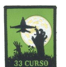 Militaria: PARCHE DEL EJÉRCITO DEL AIRE. 33 CURSO. ALA 15. ZARAGOZA. Lote 246052035