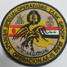 Militaria: PARCHE EMBLEMA DE BRAZO BORDADO SPANISH SPECIAL OPERATIONS TASK GROUP IRAQ. Lote 246059900