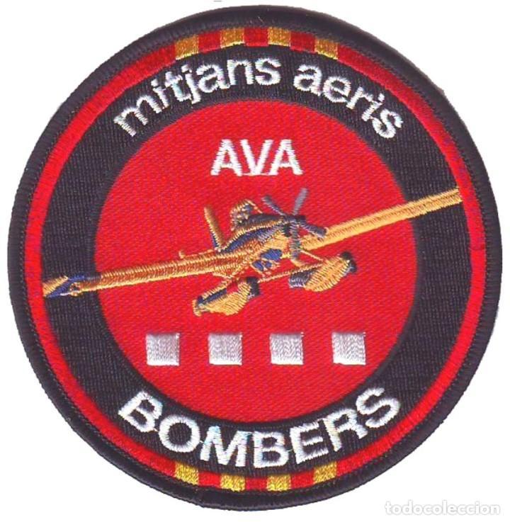 PARCHE BOMBEROS CATALUÑA MEDIOS AEREOS AVA FORESTALES (Militar - Parches de tela )