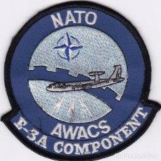 Militaria: PARCHE USA: NATO,AWACS, E-3A COMPONENT. Lote 251931260