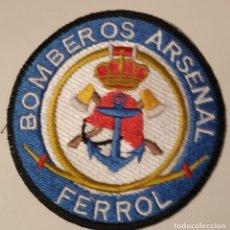 Militaria: PARCHE EMBLEMA DE BRAZO BORDADO A COLOR DE BOMBEROS DEL ARSENAL DE FERROL. Lote 255417405