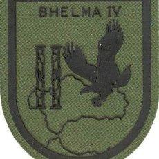Militaria: PARCHE BRAZO FAMET BHELMA IV ESCUDO ESPAÑOL VERDE FAENA. Lote 257279310