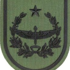 Militaria: PARCHE BRAZO FAMET CUARTEL GENERAL DESDE 1995 ESCUDO ESPAÑOL VERDE FAENA. Lote 257280375