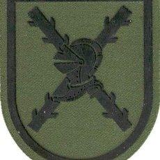 Militaria: PARCHE BRAZO FAMET LOGISTICA ESCUDO ESPAÑOL VERDE FAENA. Lote 257280520