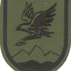 Militaria: PARCHE BRAZO FAMET USBA HASTA 1995 ESCUDO ESPAÑOL VERDE FAENA. Lote 257281290