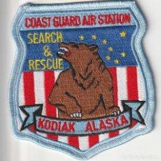 Militaria: U.S.A. - POLICIA - POLICE / 2 PARCHES - ÈCUSSON - PATCH (ISLA DE KODIAK - ALASKA). Lote 257439505