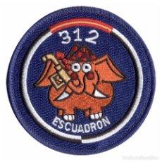 Militaria: PARCHE 312 ESCUADRON - EJERCITO DEL AIRE (VELCRO). Lote 263205300