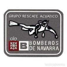 Militaria: PARCHE BOMBEROS - NAVARRA GRUPO DE RESCATE ACUATICO. Lote 265118519