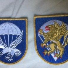 Militaria: LOTE PARCHES DEL BATALLON Y EL CUARTEL GENERAL DE LA BRIGADA PARACAIDISTA. Lote 268573189