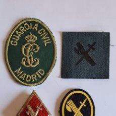 Militaria: 3 PARCHES GUARDIA CIVIL MADRID + INSIGNIA ROMBO METÁLICO - BENEMÉRITA. Lote 269398598