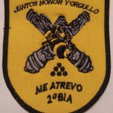 Militaria: PARCHE EMBLEMA DE BRAZO BORDADO A COLOR DE LA SEGUNDA B.I.A BRILAT. Lote 269754578