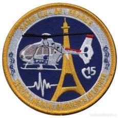 Militaria: PARCHE SAMU ILE-DE-FRANCE - HEMS - HELICOPTEROS MEDICALIZADOS - FRANCIA. Lote 274338668