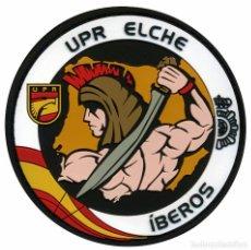 Militaria: PARCHE UPR ELCHE - IBEROS - POLICÍA NACIONAL. Lote 274607288