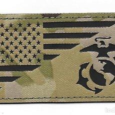 Militaria: PARCHE BANDERA USA Y MARINES USA INFRARROJOS. Lote 275483143