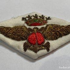Militaria: EMBLEMA TELA BORDADA HILO DE ORO - ARMADA ESPAÑOLA ALAS DE PILOTOS AERONAVAL - EPOCA FRANCO -. Lote 277297908